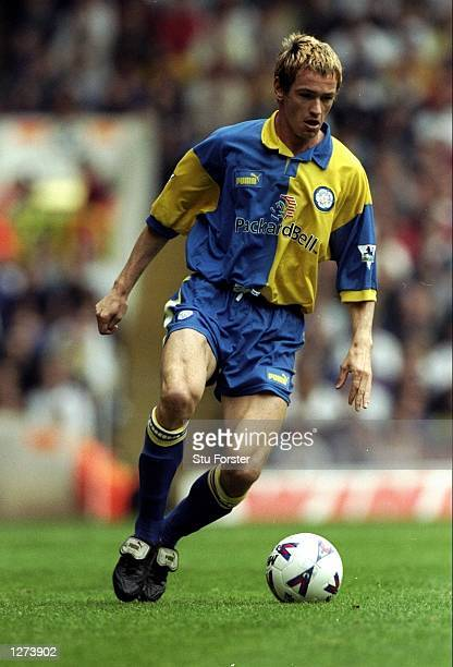 Martin Hiden of Leeds in action during the FA Carling Premiership match against Tottenham Hotspurs at High Hart Lane in London England The game ended...
