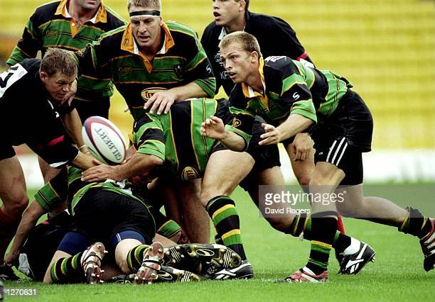 Matt Dawson of Northampton in action during the Allied Dunbar Premiership 1 match against Saracens at Vicarage Road in Herts, England. Saracens won...