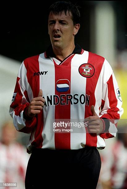 Matt Le Tissier of Southampton during the FA Carling Premiership match against Tottenham Hotspur at the Dell in Southampton England The game ended 11...