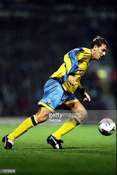 Matt Le Tissier of Southampton in action during the FA Carling Premiership match against West Ham United at Upton Park in London The game ended 00...