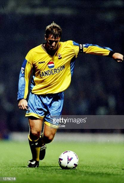 Matt Le Tissier of Southampton in action during the FA Carling Premiership match against West Ham at Upton Park in London England West ham won the...