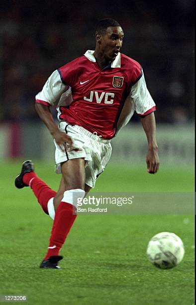 Nicholas Anelka of Arsenal in action during the UEFA Champions League against Lens at the Felix Bollarent Stadium in Lens France The game ended in a...