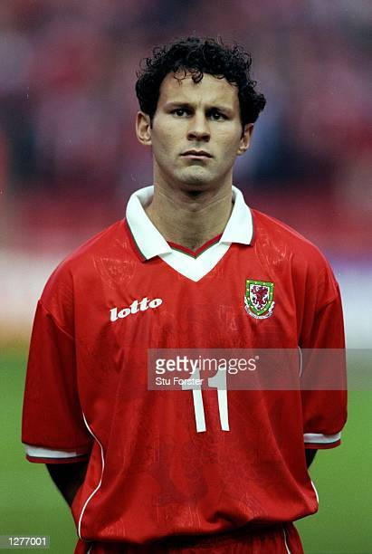 Portrait of Ryan Giggs of Wales before the European Championship qualifier against Italy at Anfield in Liverpool England Italy won 20 Mandatory...