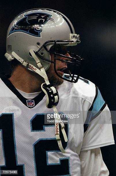 Quarterback Kerry Collins of the Carolina Panthers in action during the game against the New Orleans Saints at the Louisiana Superdome in New...