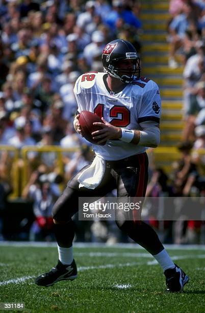Quarterback Trent Dilfer of the Tampa Bay Buccaneers in action during the game against the Green Bay Packers at Lambeau Field in Green Bay,...