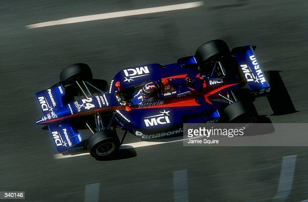 Robby Gordon of Team ArcieroWells Racing and driver of the Panasonic Reynard Toyota 98I in action during the CART Molson Indy Vancouver in Vancouver...
