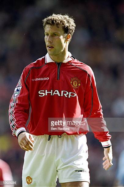 Ronny Johnsen of Manchester United in action during the FA Carling Premiership match against Coventry City played at Old Trafford in Manchester...