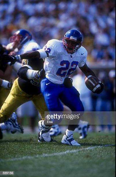 Running back David Winbush of the Kansas Jayhawks in action during the game against the Missouri Tigers at Faurot Field in Columbia, Missouri. The...