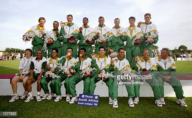 South Africa celebrate gold after the cricket final against Australia during the Commonwealth Games in Kuala Lumpur Malaysia Mandatory Credit...
