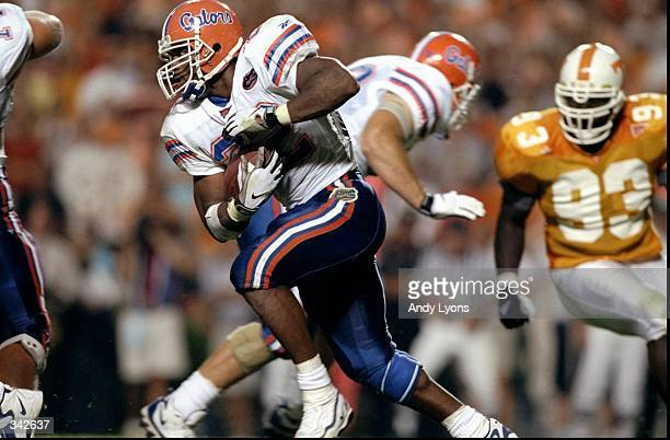 Tailback Terry Jackson of the Florida Gators in action during a game against the Tennessee Volunteers at the Neyland Stadium in Knoxville Tennessee...