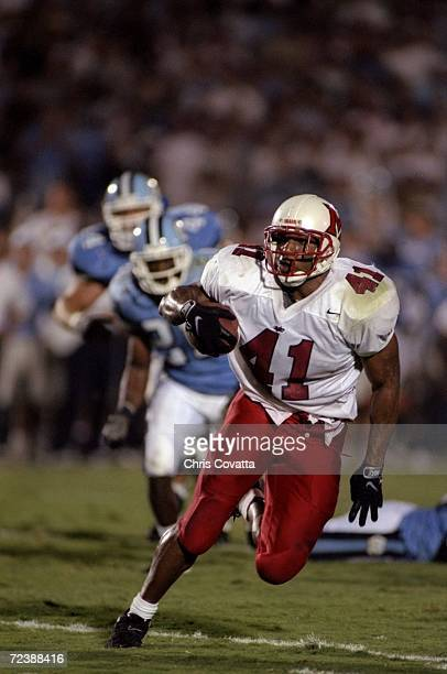 Tailback Travis Prentice of the Miami Ohio Redhawks in action during a game against the North Carolina Tar Heels at the Kenan Stadium in Chapel Hill...