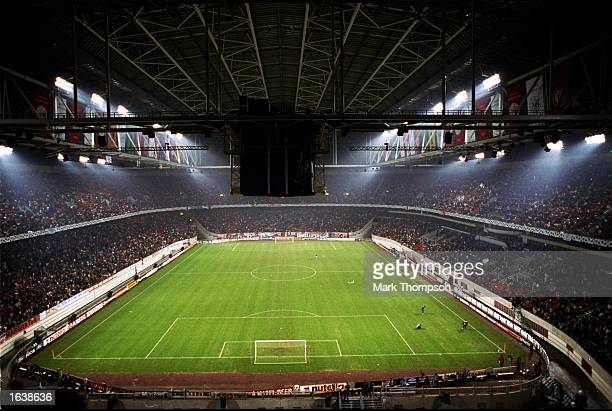 The Amsterdam Arena closes its roof on the UEFA Champions League match between Ajax and Porto in Holland. Ajax won 2-1. \ Mandatory Credit: Mark...