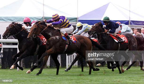 Travelmate and Ray Cochrane land The HK Commissions Rated Stakes run over 1 Mile and 4 Furlongs at Newmarket Mandatory Credit Julian Herbert/ALLSPORT