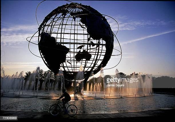 A general view of the globe taken during of the USA during the US Open at the USTA National Tennis Courts in Flushing Meadows New York Mandatory...