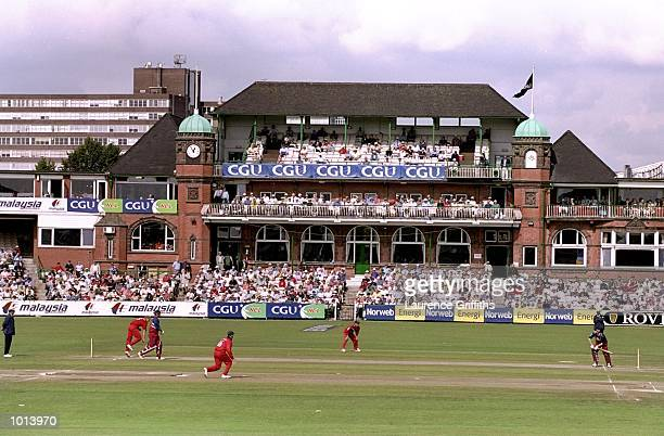 A general view of the Old Trafford cricket ground during the CGU National Cricket League game between Lancashire Lightning v Kent Spitfires at...