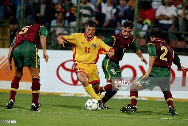 Adrian Ilie of Romania on the ball during the Euro 2000 qualifier against Portugal at the Steaua Stadium in Bucharest Romania Mandatory Credit Phil...