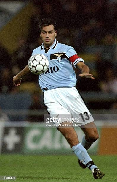 Alessandro Nesta of Lazio in action during the Serie A match between Parma and Lazio played at the Stadio Ennio Tardini Parma Italy The game finished...