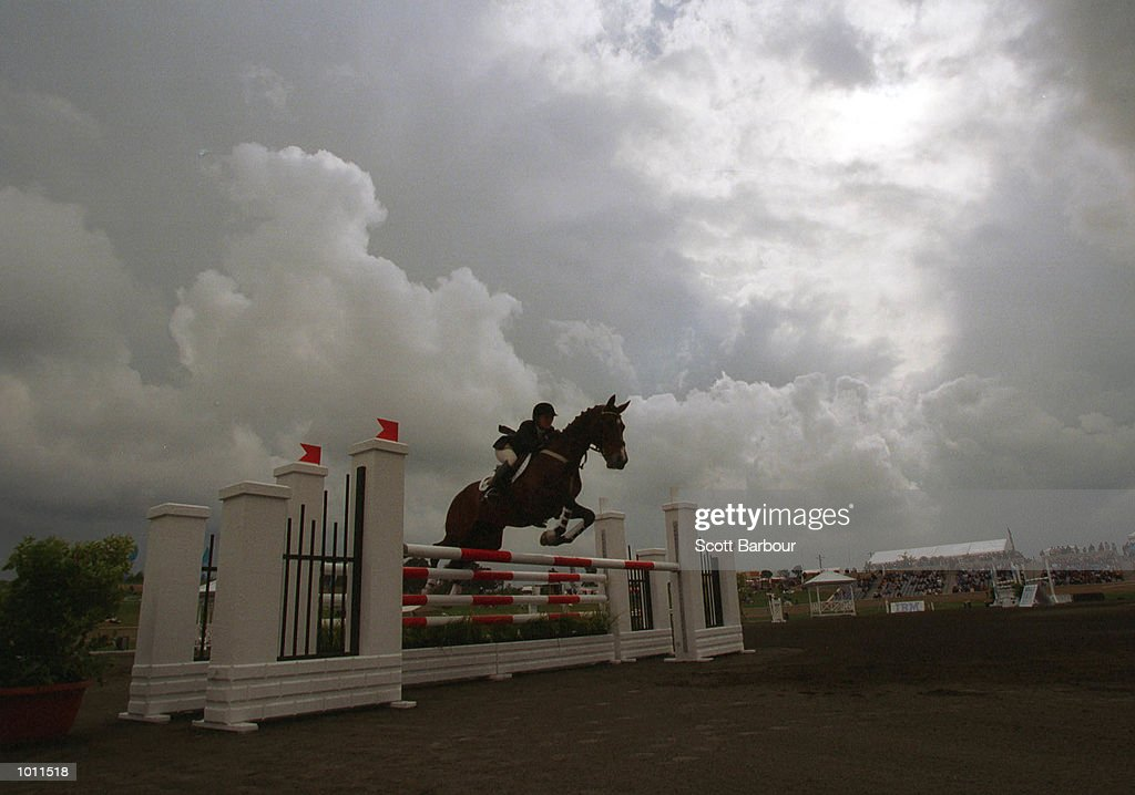 26 Sep 1999 Amanda Ross of Australia on Wynella Rialto during the show jumping competition on the final day of the Sydney International Three Day Event - S.O.C.O.G. test event at the Equestrian Centre, Horsley Park, Sydney, Australia. Mandatory Credit:Scott Barbour/ALLSPORT