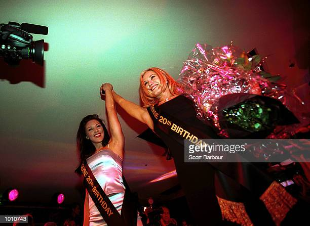 Belinda Gray Australian Penthouse pet of the year 1998 crowns Natasha Zuvela as the 1999 Australian Penthouse pet of the year during the announcement...