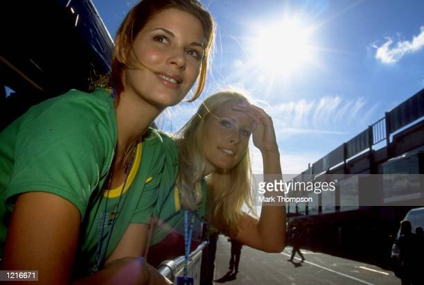 Benetton Playlife pit girls during the Formula One European Grand Prix at the Nurburgring in Nurburg Germany Mandatory Credit Mark Thompson /Allsport