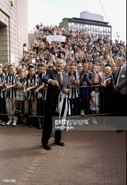Bobby Robson greets the toon army after being announced as the new Newcastle United manager at St James Park in Newcastle, England. \ Mandatory...