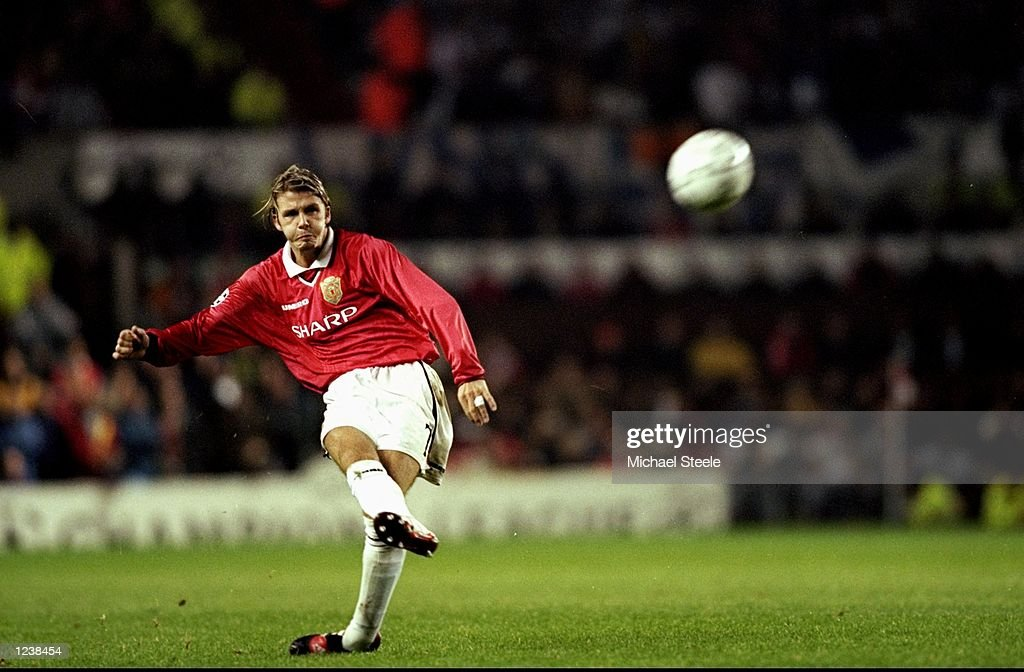 David Beckham of Manchester Utd : News Photo