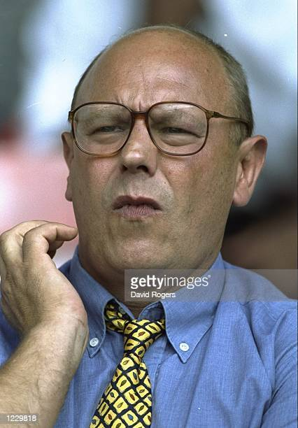 Dick Best the director of rugby at London Irish watches the Allied Dunbar Premiership One match against Saracens played at Vicarage Road in Watford...