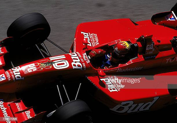 Driver Richie Hearn of the USA drives the Toyota Reynard 99I for Della Penna Motorsports sits ready in his car during the Molson Indy Vancouver part...