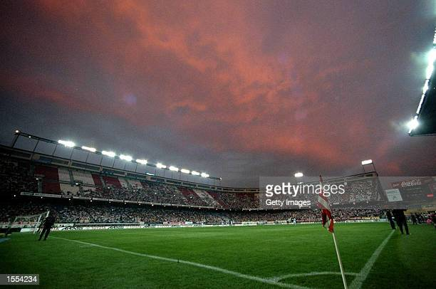 General view of the Vicente Calderon Stadium before the Spanish Primera Liga match between Atletico Madrid and Celta Vigo in Madrid Spain Pic Nuno...