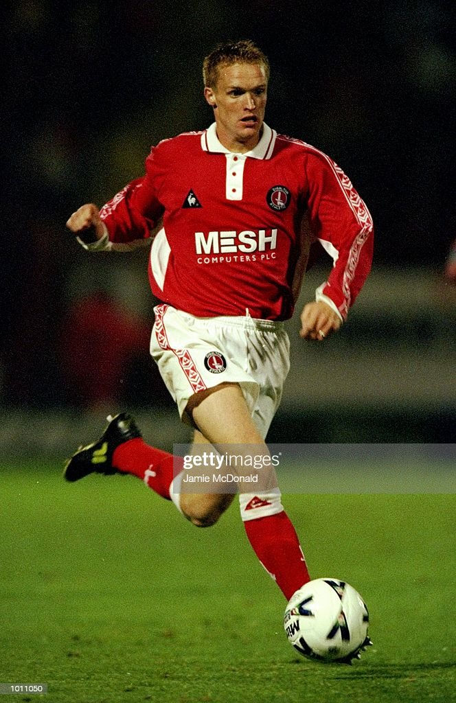 Greg Shields of Charlton in action during the match between Charlton Athletic and Bournemouth in the Worthington Cup Second Round first Leg at The Valley, London. The game finished in a 0-0 draw. \ Mandatory Credit: Jamie McDonald /Allsport