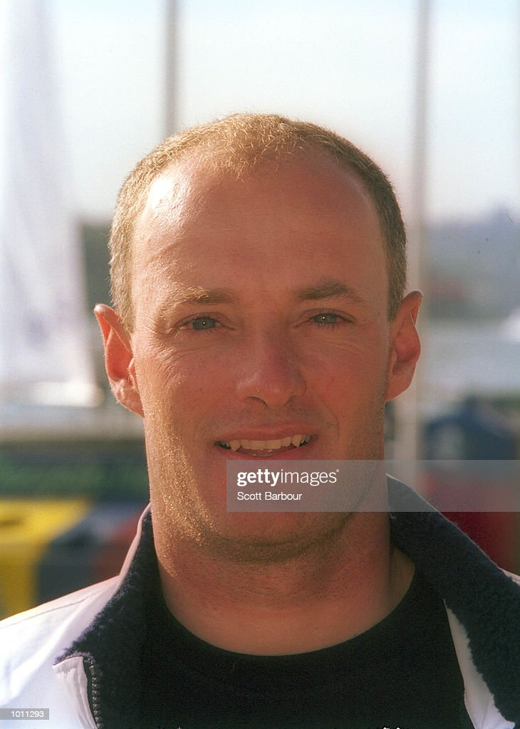 Hans P Steinacher of Austria poses for a headshot after the finish of the Tornado class during the 1999 Sydney Harbour Regatta in Sydney Harbour, Sydney, Australia. Mandatory Credit: Scott Barbour/ALLSPORT