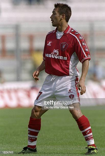 Hidetoshi Nakata of Perugia in action during the Serie A match against Cagliari at the Stadio Curi R in Perugia, Italy. Perugia won the match 3-0. \...