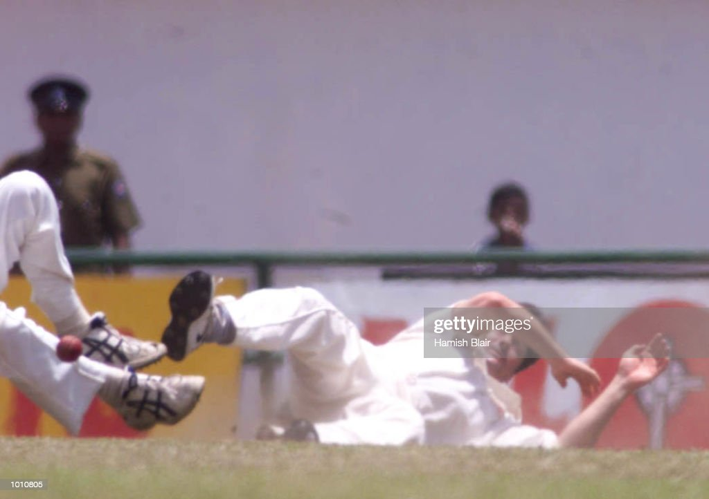 Jason Gillespie (left) and Steve Waugh of Australia collide attempting a catch, during day two of the First Test between Sri Lanka and Australia at Asgiriya Stadium, Kandy, Sri Lanka. Mandatory Credit: Hamish Blair/ALLSPORT