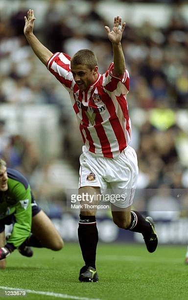 Kevin Phillips of Sunderland during the FA Carling Premiership match against Derbyplayed at Pride Park in Derby England Sunderland won the game 50...