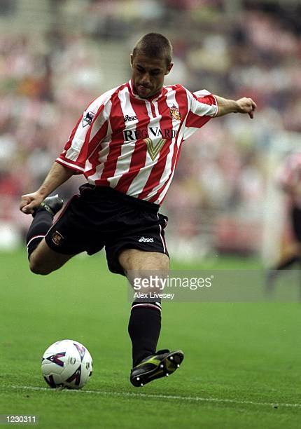 Kevin Phillips of Sunderland in action against Leicester City during the FA Carling Premiership match at the Stadium of Light in Sunderland England...