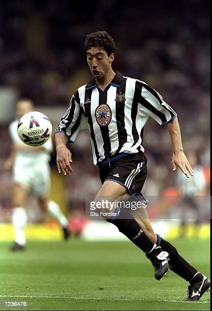 Marcelino of Newcastle in action during the FA Carling Premiership match against Leeds played at Elland Road in Leeds England Leeds won the game 32...