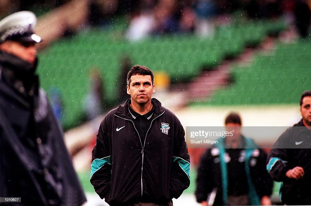 Mark Williams, coach of Port Adelaide walks to the changing room to join his team at half time during the Third Qualifying Final played between the Kangaroos and Port Adelaide played at the M.C.G, Melbourne, Australia. Kangaroos defeated Port Adelaide. Mandatory Credit: Stuart Milligan/ALLSPORT