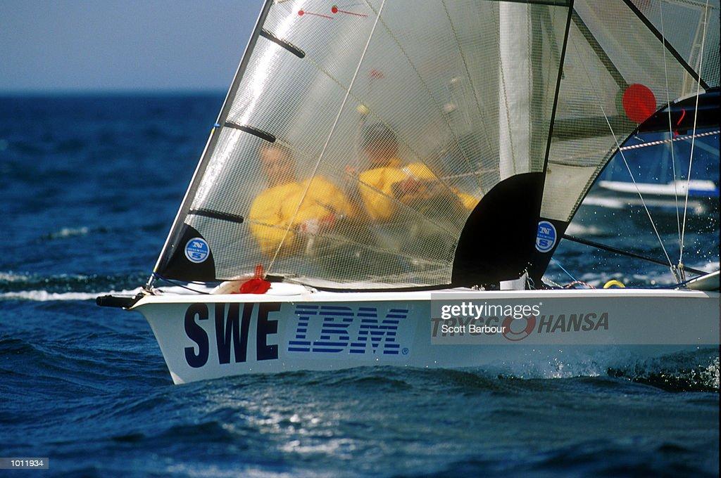 Mattias and Niklas Bengtsson of Sweden in action during the 1999 Sydney Harbour Regatta in Sydney Harbour, Sydney, Australia. Mandatory Credit: Scott Barbour/ALLSPORT