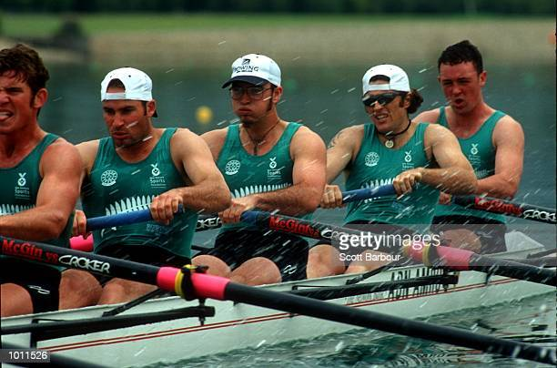 24 Sep 1999 New Zealand team in action during in the Men's Under 23's eights final at the Pacific Rim International Regatta a SOCOG test event at the...