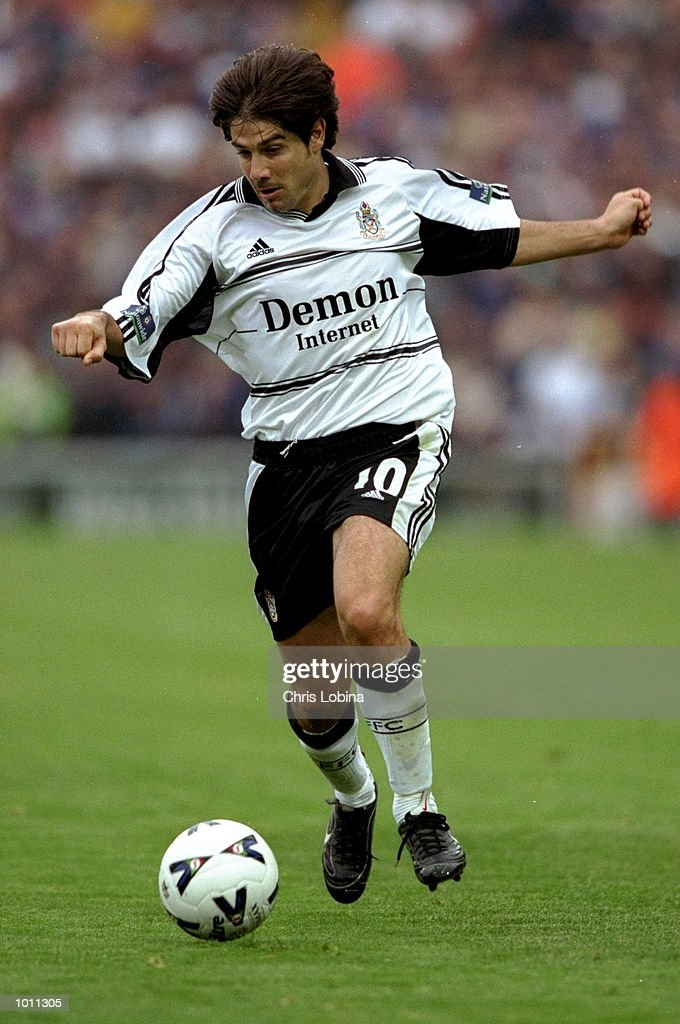 Paul Peschisolido of Fulham in action during the match between Fulham v Queens Park Rangers in the Nationwide League Division One at Craven Cottage, London. \ Mandatory Credit: Chris Lobina /Allsport