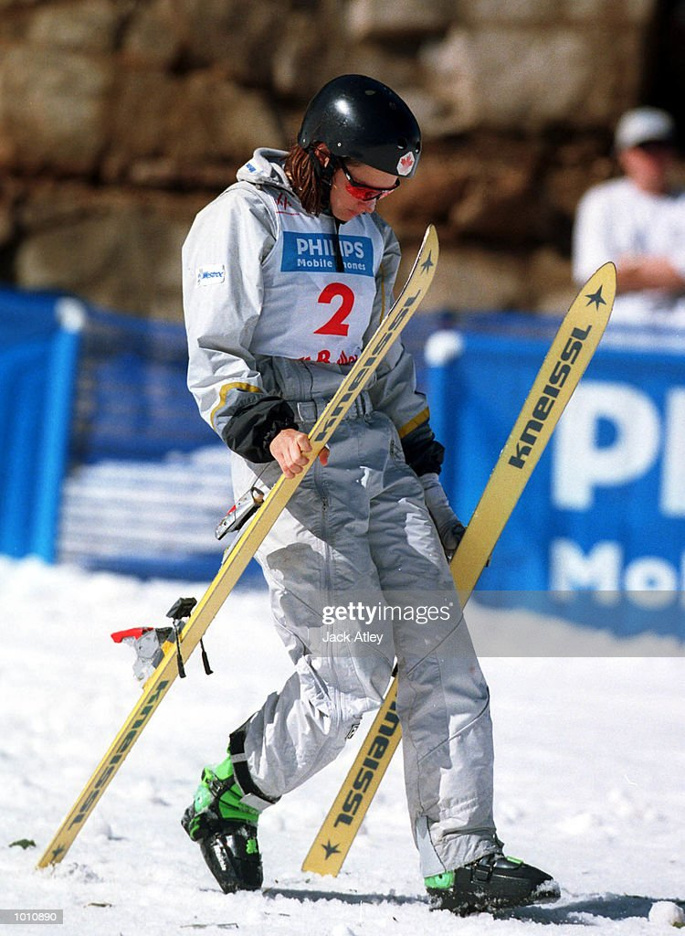 SERIES - Veronica Brenner of Canada walks away after crashing on landing during her second jump during the second round of the 1999/2000 world cup aerials season, at Mount Buller, Australia. Brenner crashed heavily but was not seriously hurt and finished in eleventh place in the womens section. Mandatory Credit: Jack Atley/ALLSPORT