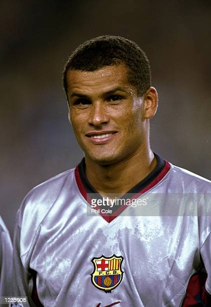 Portrait of Rivaldo of Barcelona lining up to face Fiorentina in the UEFA Champions League group B match at the Nou Camp in Barcelona Spain Mandatory...