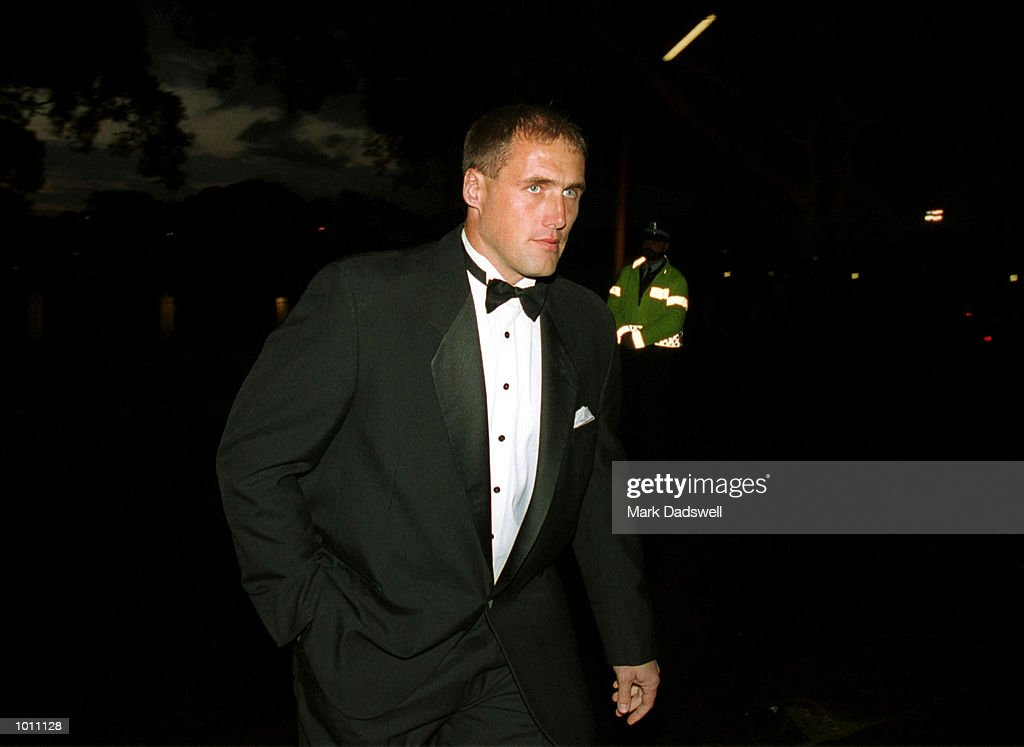 Recently retired Tony Lockett of the Sydney Swans arrives at the Brownlow medal presentation night at the Horden Pavilion function centre,Moore Park Sydney Australia. Mandatory Credit: Mark Dadswell/ALLSPORT