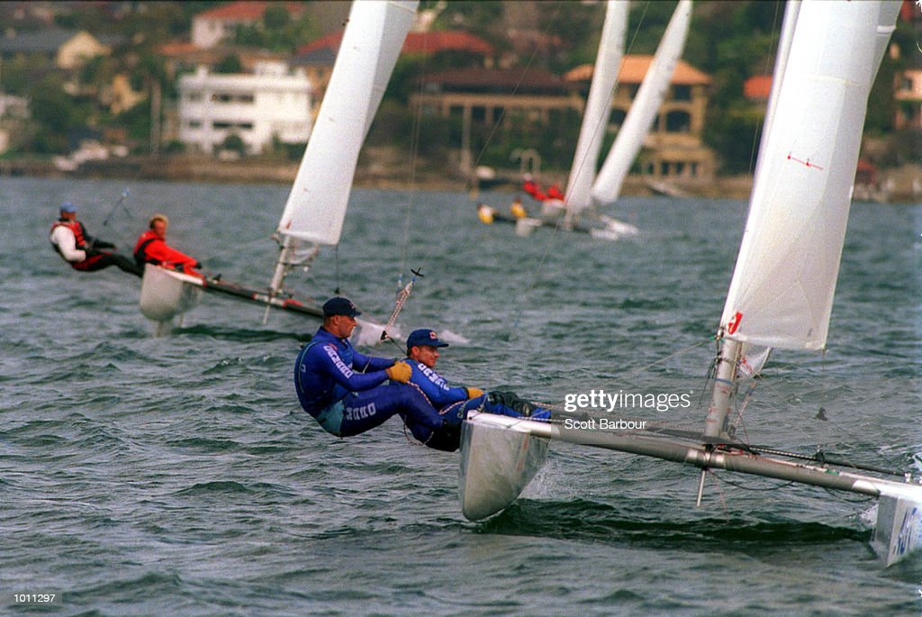 Roman Hagara and Hans P Steinacher of Austria in action of the Tornado class during the 1999 Sydney Harbour Regatta in Sydney Harbour, Sydney, Australia. Mandatory Credit: Scott Barbour/ALLSPORT