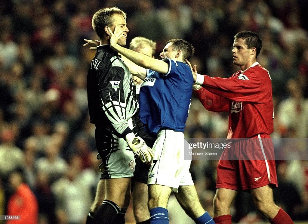 Sander Westerveld and Francis Jeffers : News Photo