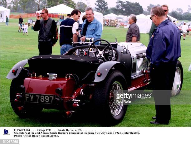 Sep 1999 Santa Barbara, Ca Spectators At The 21St Annual Santa Barbara Concours D'Elegance View Jay Leno's 1924, 3-Liter Bentley.