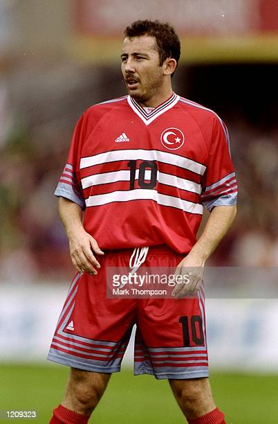 Sergen Yalcin of Turkey during the Euro 2000 qualifier against Northern Ireland at Windsor Park in Belfast Northern Ireland Mandatory Credit Mark...
