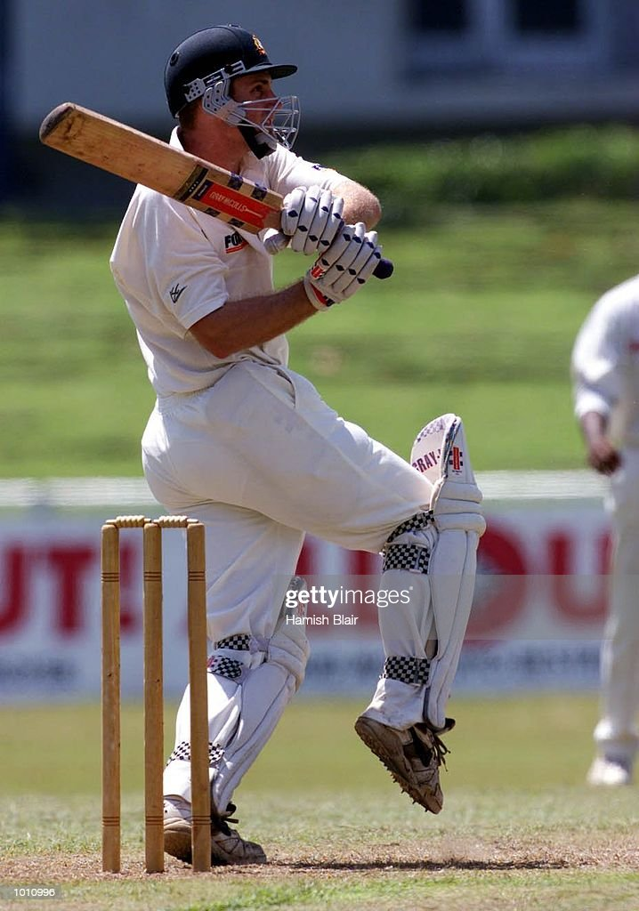 Simon Katich, making his first class debut for Australia, on the attack, during day one of the Tour match between the Sri Lanka Board XI and Australia at Colombo Cricket Club, Colombo, Sri Lanka. Mandatory Credit: Hamish Blair/ALLSPORT