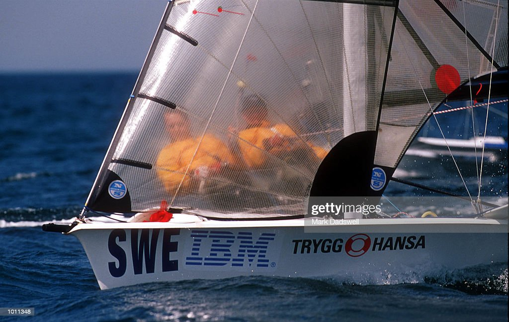 Skipper Mattias Bengtsson and crew Kiklas Bengtsson of team USA in action in the 49ers class during the 1999 Sydney Harbour Regatta in Sydney Harbour, Sydney, Australia.This is a S.O.C.O.G test event. Mandatory Credit: Mark Dadswell/ALLSPORT