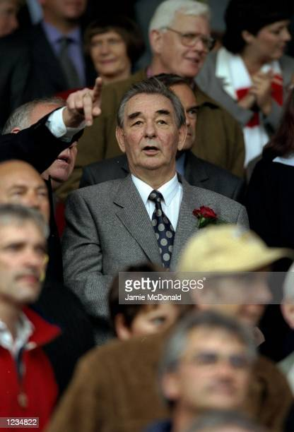The exmanager of Nottingham Forest Brian Clough makes a rare appearance at the club during the Nationwide Division One match between Nottingham...